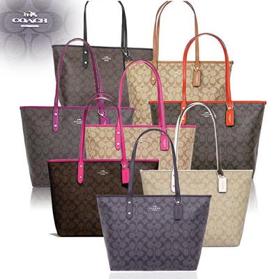 0795661c NWT Coach Signature City Zip Tote Bag Handbag- 2018 F58292 COLLECTION