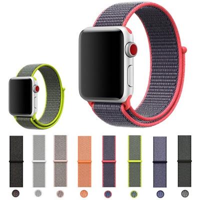 Nylon Casual Watch Band Sport Loop Untuk Apple Watch Series 3 2 1 Iwatch 00e26bea98