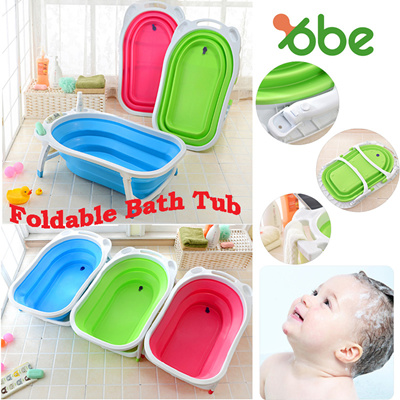 Qoo10 - [OBE] Foldable collapsible baby bath tub. Children Bath ...