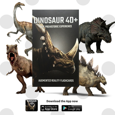 (BEST SELLER) Dinosaur 4D Flashcards Octagon Studio Augmented Reality Cards
