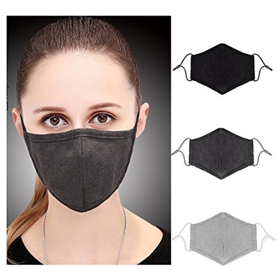 Dust N95 Adult Flu - Respirator oemby001 Mask Face C Black Allergy Gray Mask