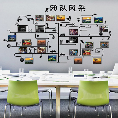 Qoo48 Office Of The Company Culture Wall Decorations Inspirational Simple Office Furniture Team Decoration