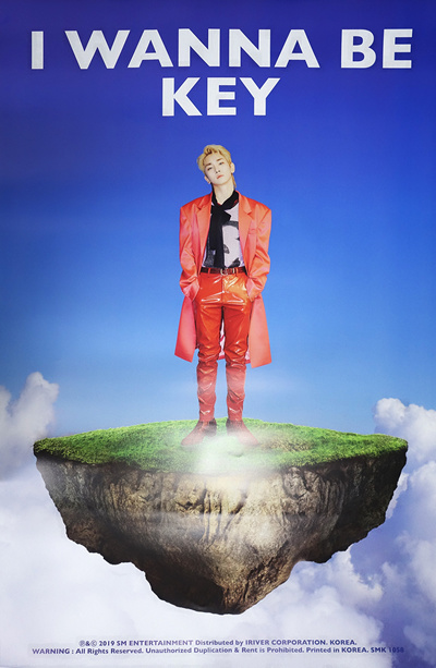 [SM Entertainment][Official Poster] Key Shinee - I Wanna Be (Vol 1  Repackage) / With Tube Case