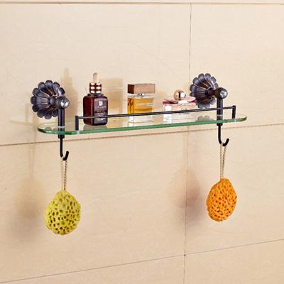 Qoo10 Oil Rubbed Bronze Bathroom Shelf Glass Tier W Towel Hangers