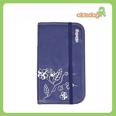 8333e63e2aff okiedogOkiedog Zugvogel Passport and Document holder - Luxe Line Delft blue