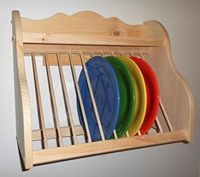 qoo10 old yankee workshop wood plate rack dish organizer