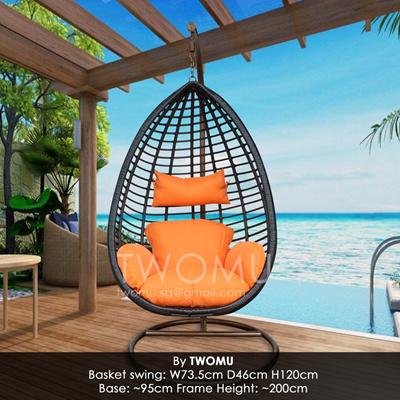 Olivette Handwoven Premium Rattan Swing Chair