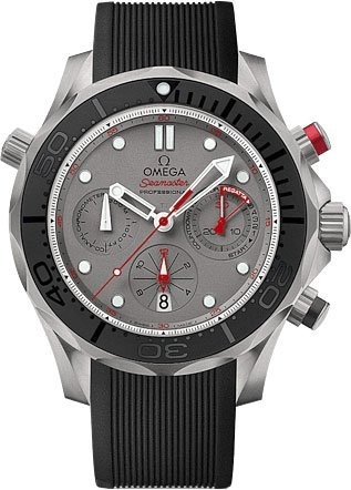 7620797a40d7 Qoo10 - Omega Seamaster Diver 300 Chronograph Automatic Grey Dial Black  Rubber...   Watch   Jewelry