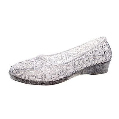 21cb7a1954ac Qoo10 - Omgard Womens Hollow Glitter Crystal Ballet Flat Jelly Shoes Sandals-o...    Shoes