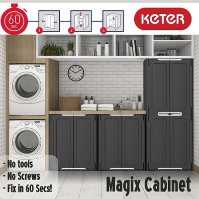 Keter Magix Stackable Foldable Indoor Storage Cabinet Fix In 60 Secs Home