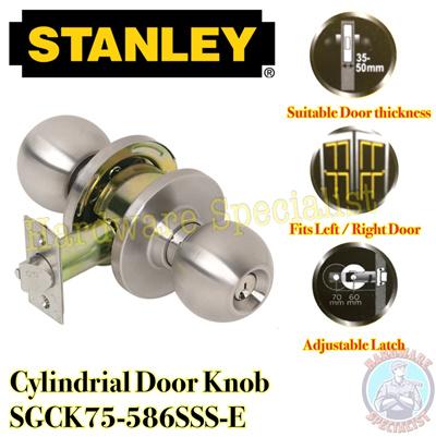 Qoo10 - Stanley Cylindrical / Cylinder Door Knob / Door Lock / 3 ...