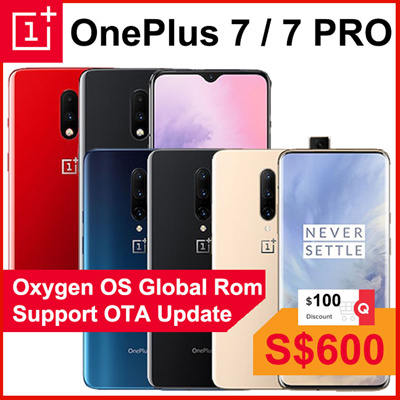 OnePlus[FREE GIFTS] Oneplus 7 Pro Snapdragon 855 / 90Hz Fluid AMOLED / 48MP  Camera / Warp Charge 30