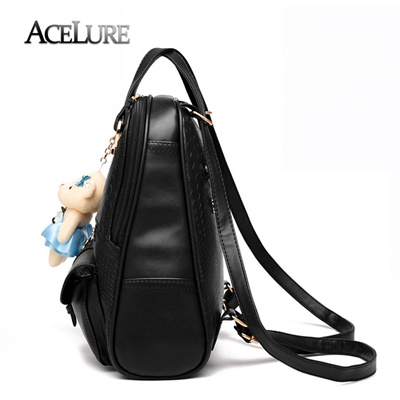 e764feb56358 online ACELURE Brand 2017 New Women Backpacks High Quality PU Leather  School Bags Students Backpack