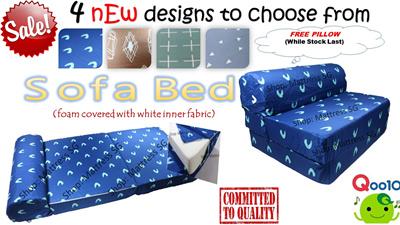 Qoo10 Foldable Sofabed 生活用具 寢具