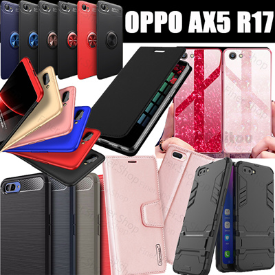 reputable site cc4f6 898c4 OPPO AX5 A3S A5 Case!!!Flip Wallet cover case Full Tempered Glass Armor  cover for OPPO AX5 R17