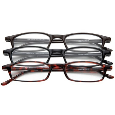 2.5 Magnification Set of 3 Reading Glasses