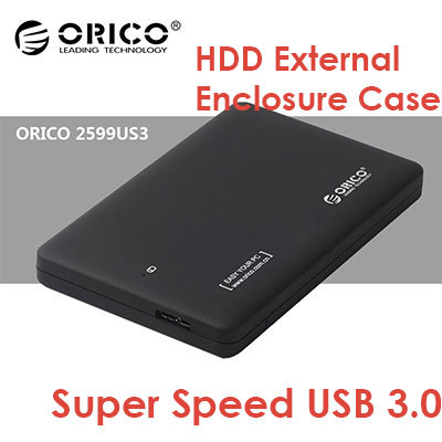16b203500 ORICO 2599US3 Tool Free USB 3.0 Hard Drive Disk HDD External Enclosure Case  With USB 3.0