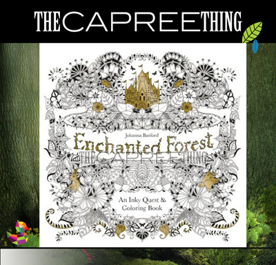 Original Enchanted Forest An Inky Quest Colouring Book Johanna Basford English Version