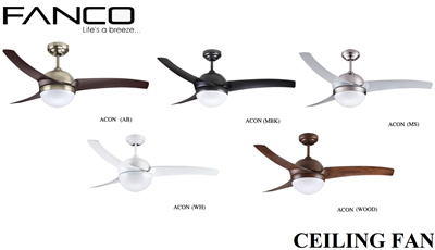 Original Fanco Acon 42 52 Inch Ceiling Fan Include Free Remote Control Led Bulbs