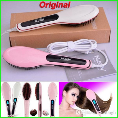 Original NASV Beautiful Star Comb Fast Hair Straightener Straight Styling  Tool Flat Iron With LCD ab7fe02f97a