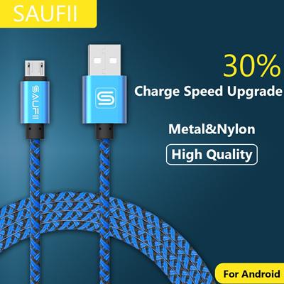 Qoo10 - Original SAUFII 2A nylon micro usb cable Charger fast charging cable c... : Mobile Accessori.
