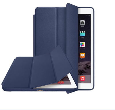 Original Ultra Flip stand three-fold Smart cover for apple ipad air 2 Slim  leather 199529c91c
