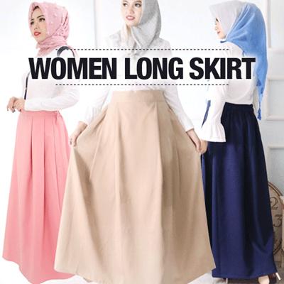 Osaka Rok Hijabers Rok Panjang Polos Simple Women Long Skirt Rok Polos Panjang Rok Muslimah Wanita