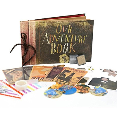 Our Adventure Book - UP Pixar Movie DIY Scrapbook With Glue Dots, Ink Pads,  Rhinestones, Postcards,