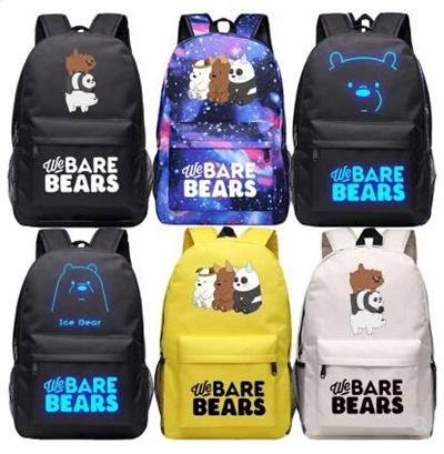69620790056423 Our naked bear bag men and women couple backpack anime white bear bag We  Bare Bears