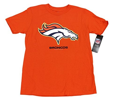 free shipping c30a2 7b70c OuterStuff Outer Stuff Boys Denver Broncos NFL Football Youth T-  Shirt,Denver,Large
