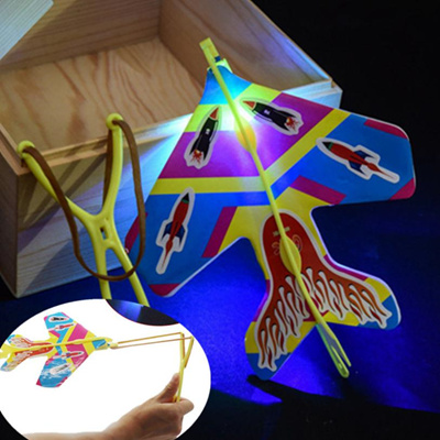 outlet DIY Flash Ejection Cyclotron Light Plane Slingshot Aircraft For Kids Gift Toys  Cherryb