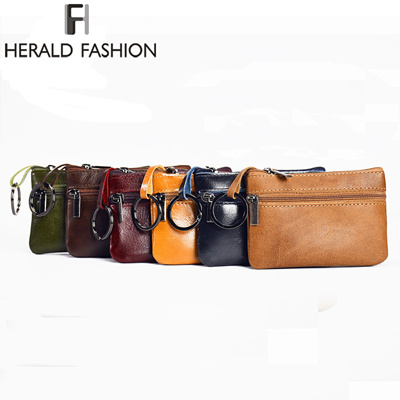0054f83484e outlet Herald Fashion Genuine Leather Small Mini Coin Purse Change Wallet Purse  Women Key Wallet Coi