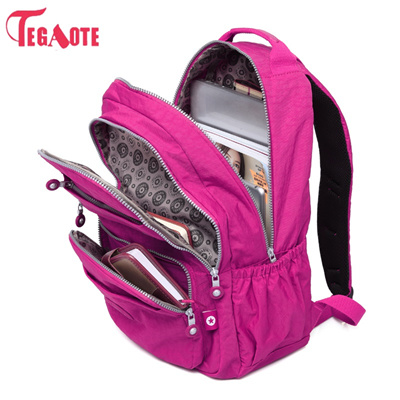 outlet TEGAOTE School Backpack for Teenage Girl Mochila Feminina Kipled Women  Backpacks Nylon Waterp a89befc6e1581