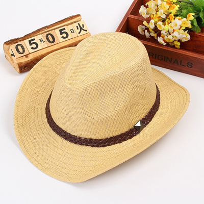 Qoo10 - Package mail along the straw cowboy hats big straw hat man curl  decora...   Men s Bags   Sho. 180d66b168c
