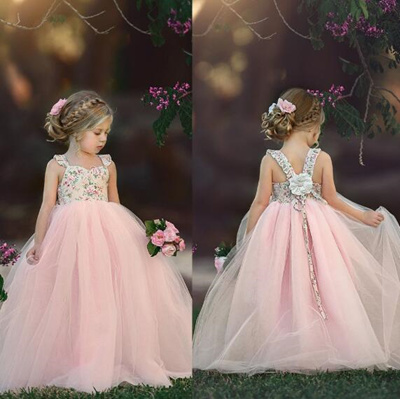 d3aa0a2fa3a Qoo10 - Pageant Flower Girl Dress Kids Fancy Wedding Bridesmaid Gown Formal  Dr...   Baby   Maternity