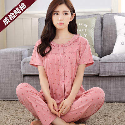 Qoo10 - Pajamas Women s spring and summer cotton suit older thin women s  pants...   Women s Clothing aaa70c8d6