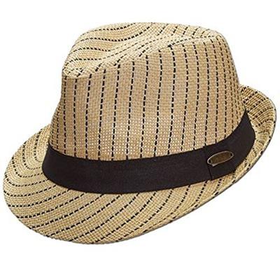 Panama Jack Matte Toyo Woven Stripe Fedora a1f9e62ce0e