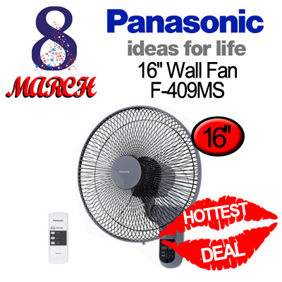 Qoo10 Panasonic 16inch Wall Fan F 409ms With Timer And 3