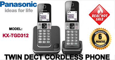 Qoo10 - PANASONIC KX-TGD312 TWIN DECT CORDLESS PHONE