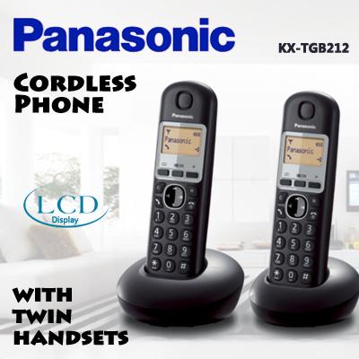 Qoo10 panasonic phone home electronics panasonic cordless home phone with twin handsets kx tgb212 with lcd display caller sciox Choice Image