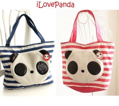 559529c95 Qoo10 - Panda strped handbag : Bag & Wallet