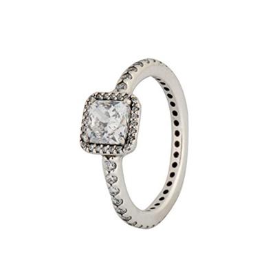 6c3b7feec5f (PANDORA) PANDORA Timeless Elegance Ring, Clear CZ 190947CZ-56 EU 7.5  US-190947CZ-56