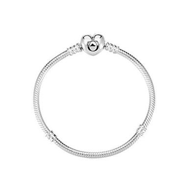 069f0194f40 PANDORA Silver Charm Bracelet with Heart Clasp 7.5inch 590719-19
