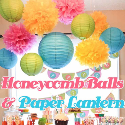 Qoo10 Paper LanternHoneycombWeddingBallROMBirthday Party