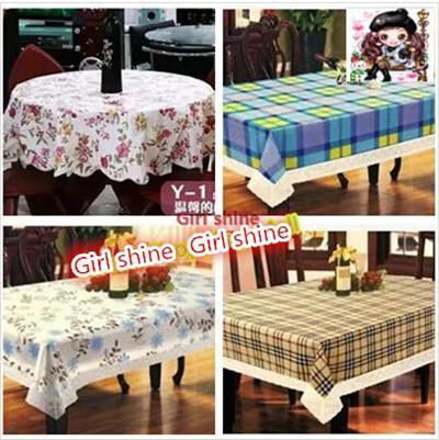 Pastoral Cloth Tablecloths Waterproof Disposable Plastic Round Table Cloth  Mat Soft PVC Taiwan Armin