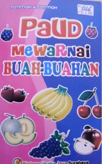 Qoo10 Paud Mewarnai Buah B Buku Hobi