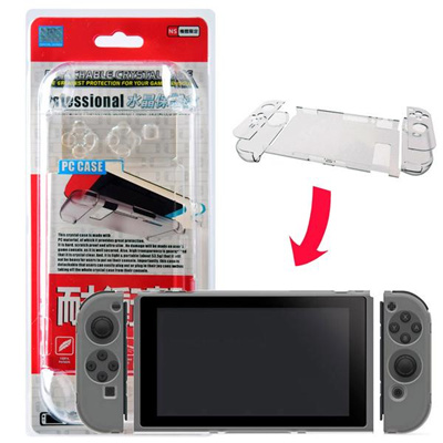 PD Detachable Crystal Case for Nintendo Switch Console and Joy-Con  Controllers