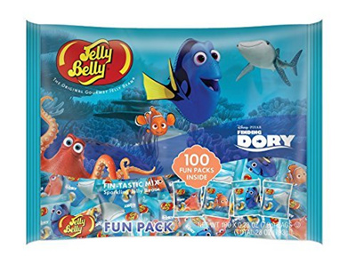 (Peace Distributors) Jelly Belly Finding Dory with 100 Fun-Pack Bags-  (Size:1-Pack)