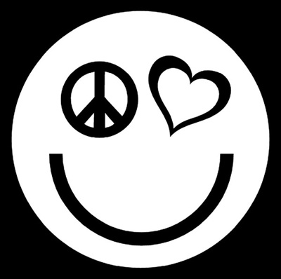 Peace Love Happiness Vinyl Decal Sticker Car Window Wall Laptop Smiley Face Logo Buy 2 Get 1 Extra