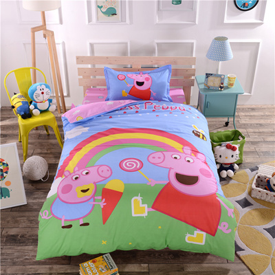 【Peppa Pig】Bed Sheet Set/Includes Quilt Cover + Bedsheet Cover+1